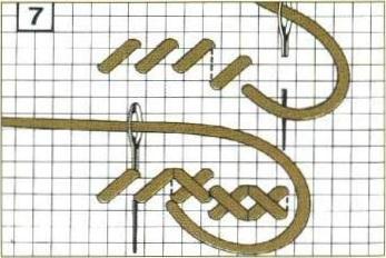 Поэтапная вышивка крестиком i