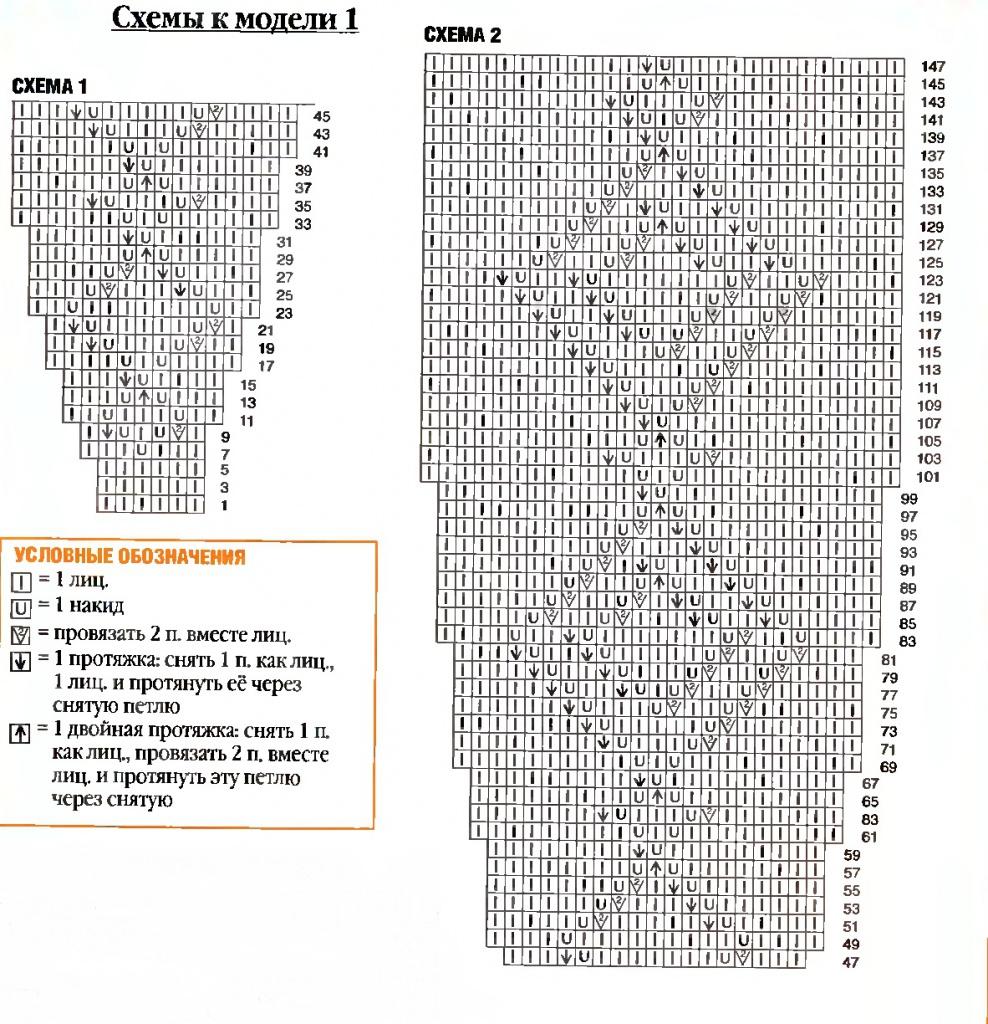 схема крючком абажур