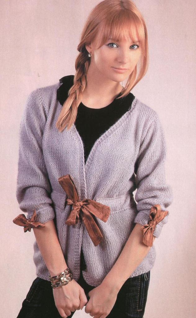 Вязание пушистого свитера