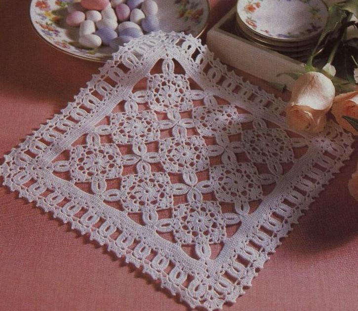 Вязание квадратной салфетки