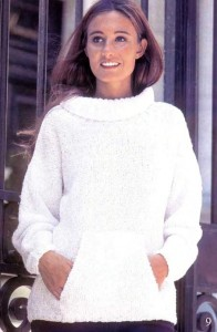 Пуловер из буклированной пряжи с доставкой