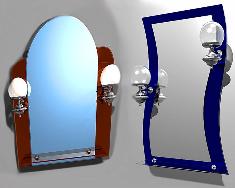 Как оформить зеркало для ванной своими руками
