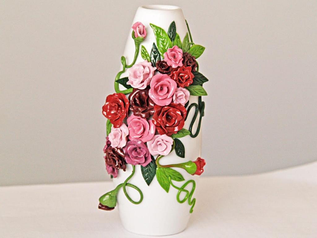 Полимерная глина ваза своими руками