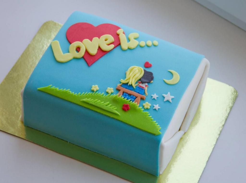 Торт девочке 12лет марципановый фото