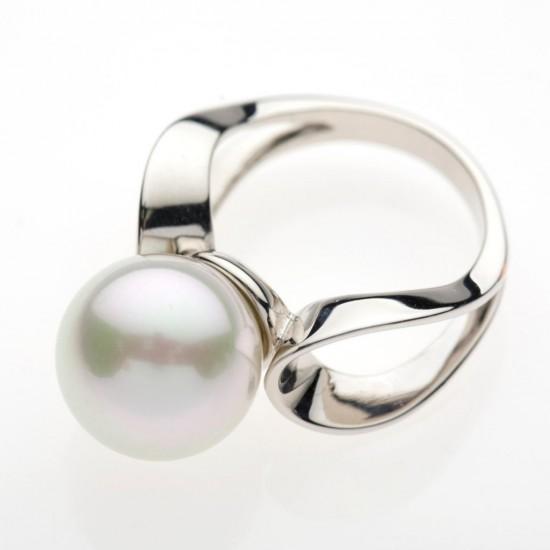 Серебряные кольца с жемчугом 4