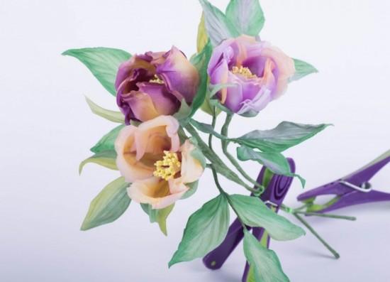 Цветы из ткани в японской технике 2