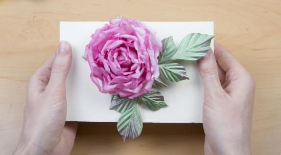 Цветы из ткани в японской технике 3
