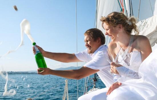 Романтичное свадебное торжество на палубе теплохода4